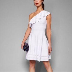 Ted Baker London White Off Shoulder Dress